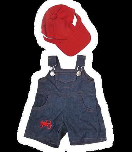 Salopette et casquette de fermier - Vêtement pour peluches de 40cm