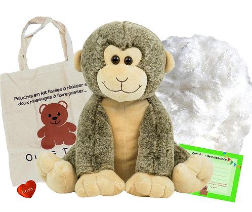 Le singe souriant - peluche à créer de 40 cm