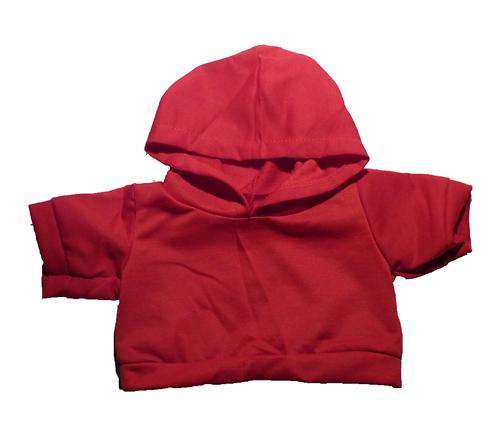 Sweat rouge à capuche - vêtement pour peluche de 40 cm