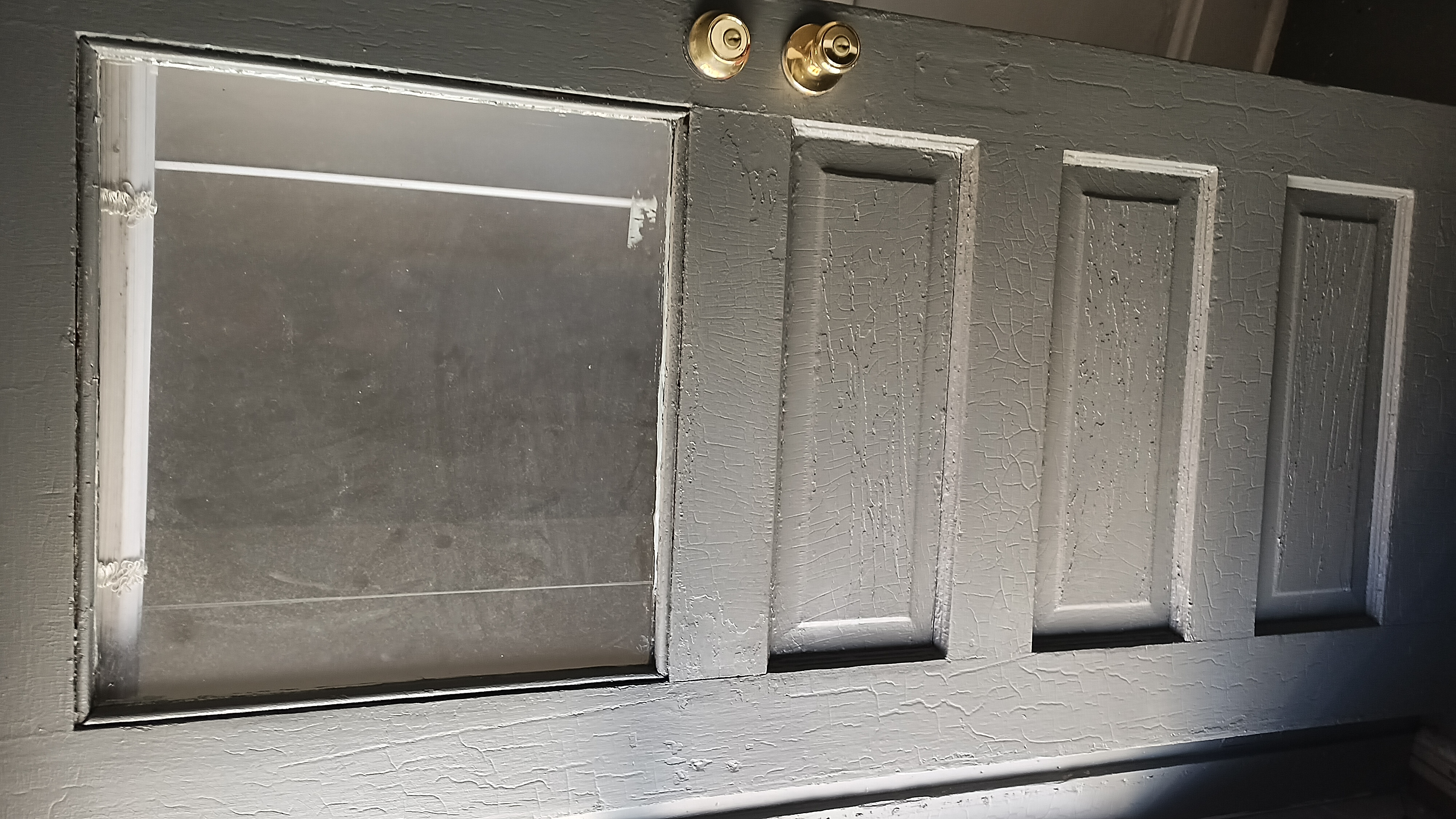 Photo of Outside of Side Door With Clear