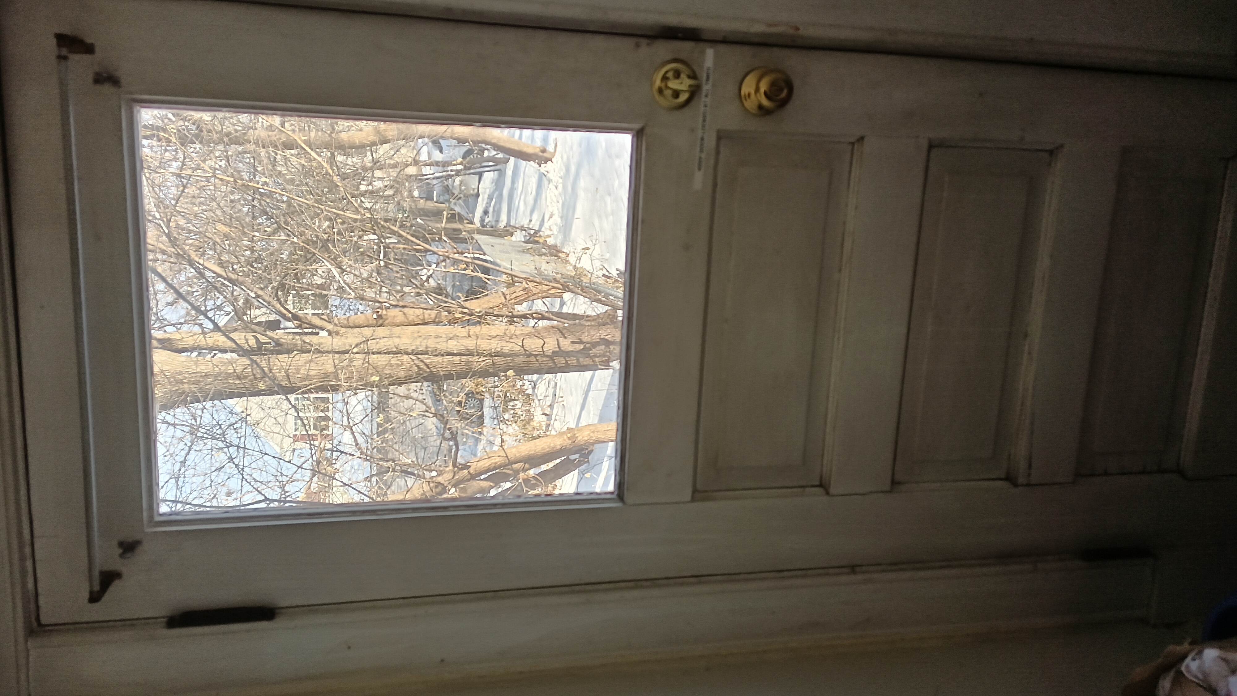 Photo of Inside of Back Door With Clear