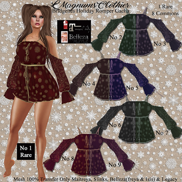 LMagnums Bridgetts Holiday Romper Gacha
