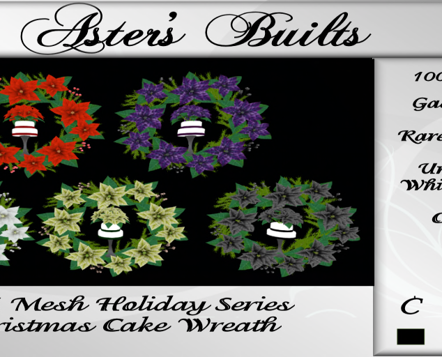AM Mesh Holiday Series - Christmas Cake
