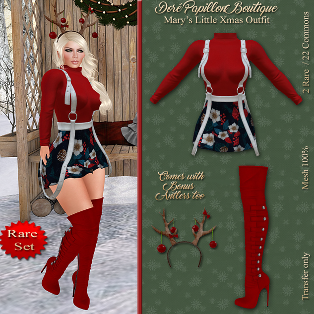DPB Marys Little Xmas Outfit Gacha Key 2