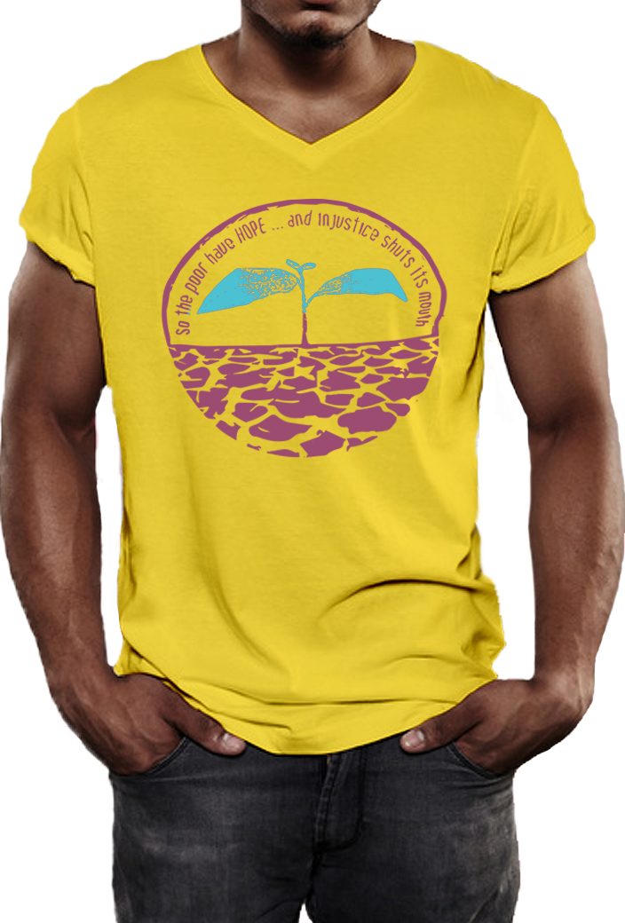 yellow shirt with color logo(man3)