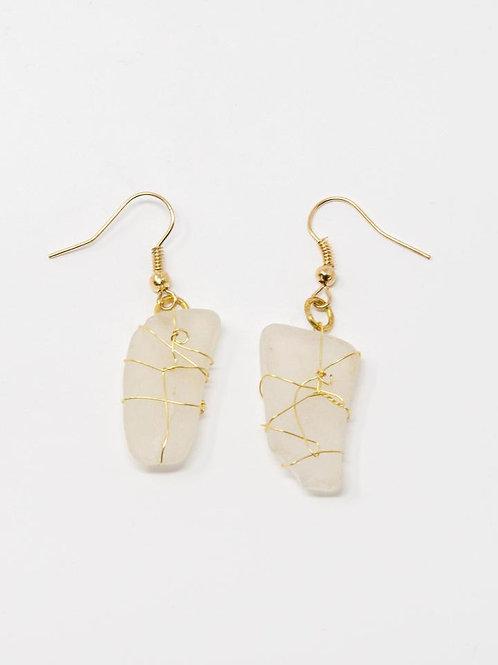 Sea Glass Dangly Earrings