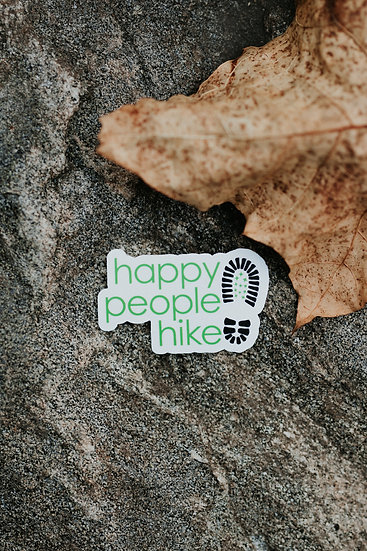 Happy Hiking Boots Sticker