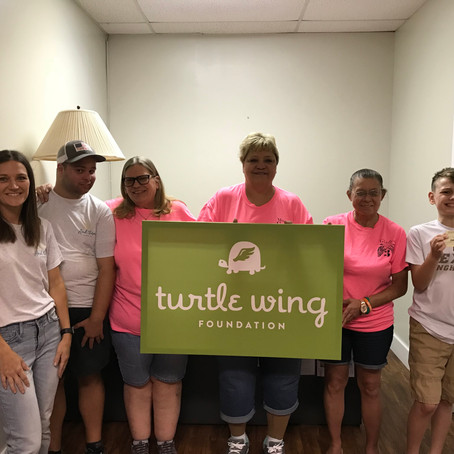 Our 3 Angels Makes Donation to Turtle Wing Foundation