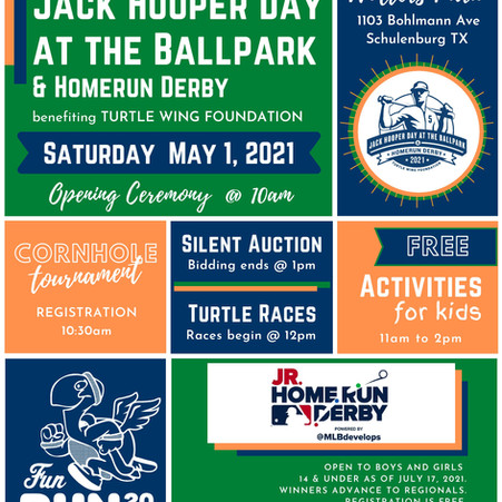 Turtle Wing to Host 10th Annual Jack Hooper Day at the Ballpark & Homerun Derby