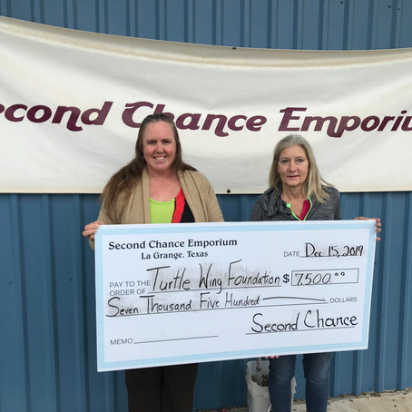 Second Chance Emporium Donates Towards Turtle Wing's Social Skills Programming
