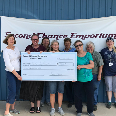 Second Chance Donates to Turtle Wing to Support Social Skills Outing Groups