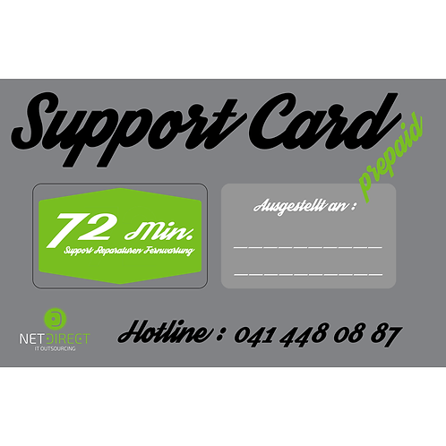 SCP Support Card prepaid