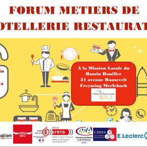 🗓️27/06/19 - FORUM METIERS DE L'HOTELLERIE RESTAURATION - FREYMING MERLEBACH