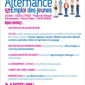 🗓️30/04/19 - Forum Alternance & Emploi des Jeunes  - FORBACH