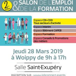🗓️28/03/19 - #jobconnectevents Salon de l'Emploi et de la Formation 2ème édition - Woippy