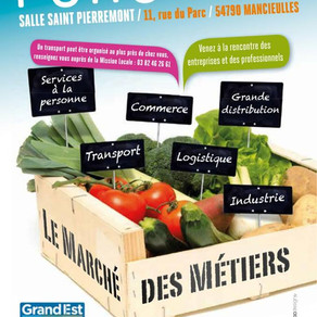 """🗓️04/04/19 - Forum """"Le Marché des Métiers"""" - MANCIEULLES"""