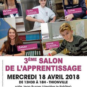 🗓️18/04/18 - 3ème Salon de l'apprentissage - THIONVILLE