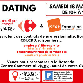 🗓️18/05/19 - Job Dating Carrefour Market Muse Metz