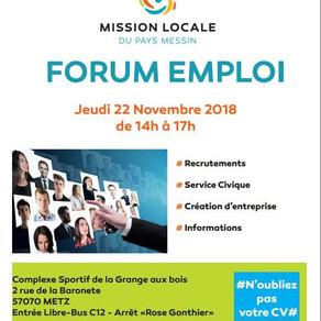🗓️22/11/18 - FORUM EMPLOI - METZ Grange aux Bois