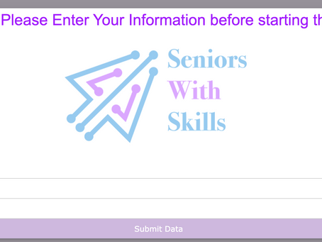 New: Seniors with Skills Training Course