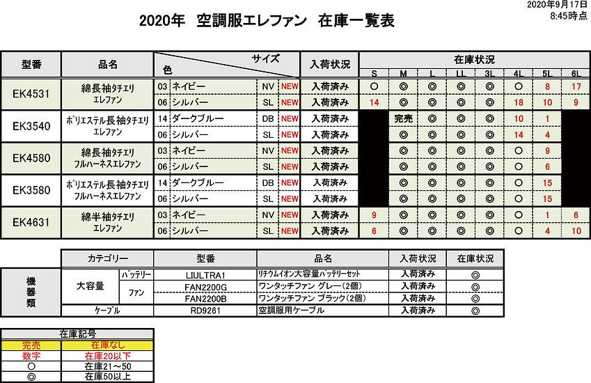 【エイコー】2020年空調服ネット在庫一覧表_20200917.jpg