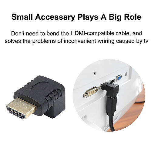 Adaptateur compatible HDMI coude