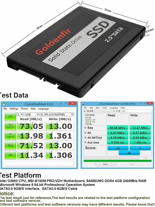 Goldenfir – Disque dur SSD, 2,5 pouces, avec capacité 128 Go