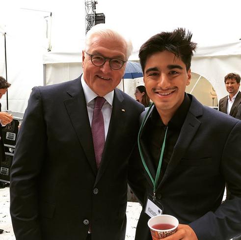 With President Frank-Walter Steinmeier