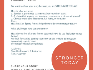 Share your story! You are stronger today!