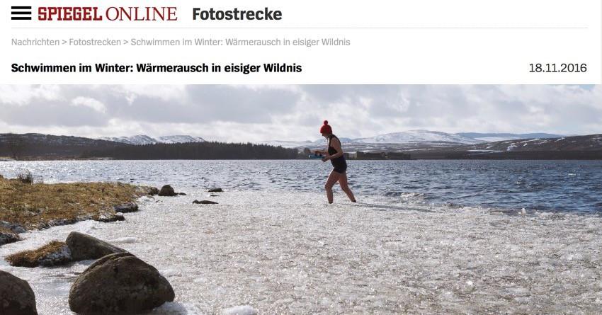 Talking Winter Swimming in Spiegel Online