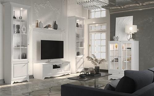 """SV- Мебель """"Гостиная Версаль Белый / Белый структурный"""""""