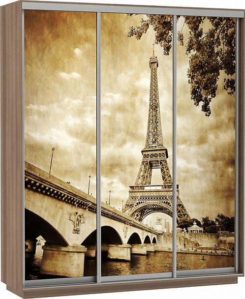 """Е1 """"Шкаф-купе Фото Трио (Париж)"""""""