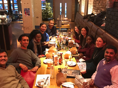 A lovely lab meal to celebrate Christmas (even if it took aaaaaaaages to arrive)