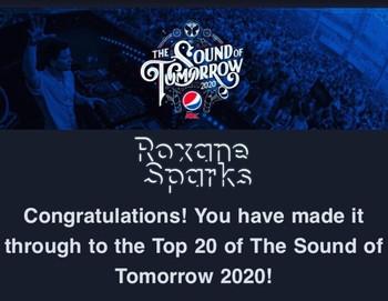 TOP 20 SOUND OF TOMORROW CONTEST 2020