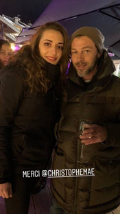 With Christophe MAE