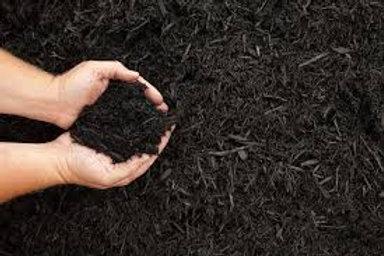 Shredded Black Mulch - 2 cu ft