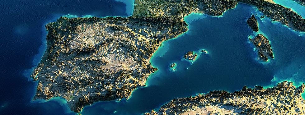 Mapa de la peninsula iberica