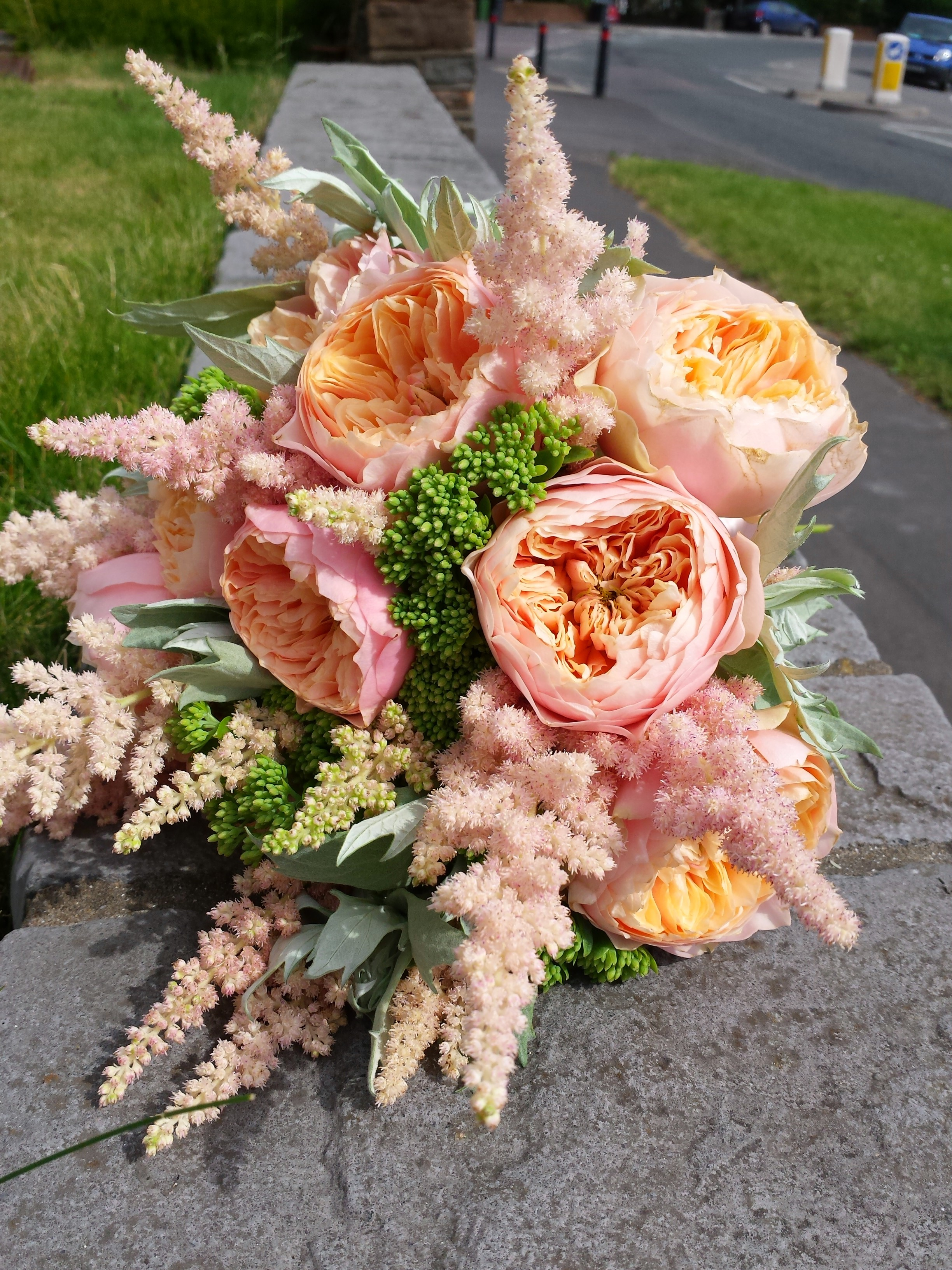 Pink & Apricot Bridal Bouquet