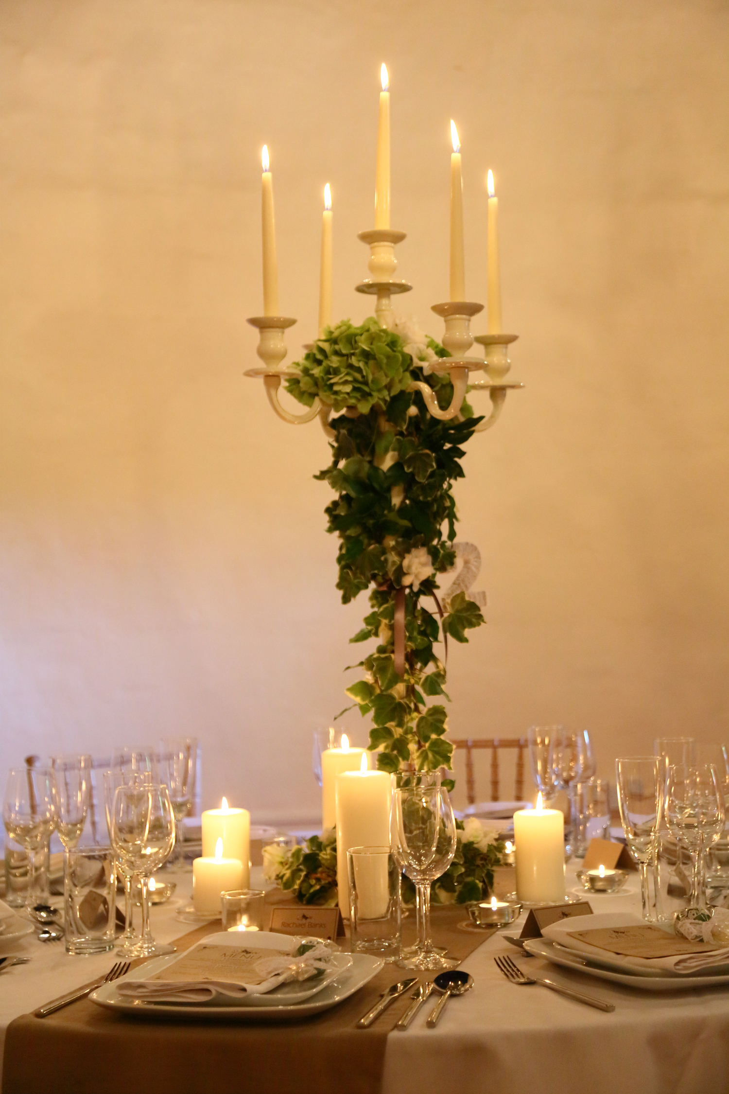 Walton Castle Wedding Candelabra
