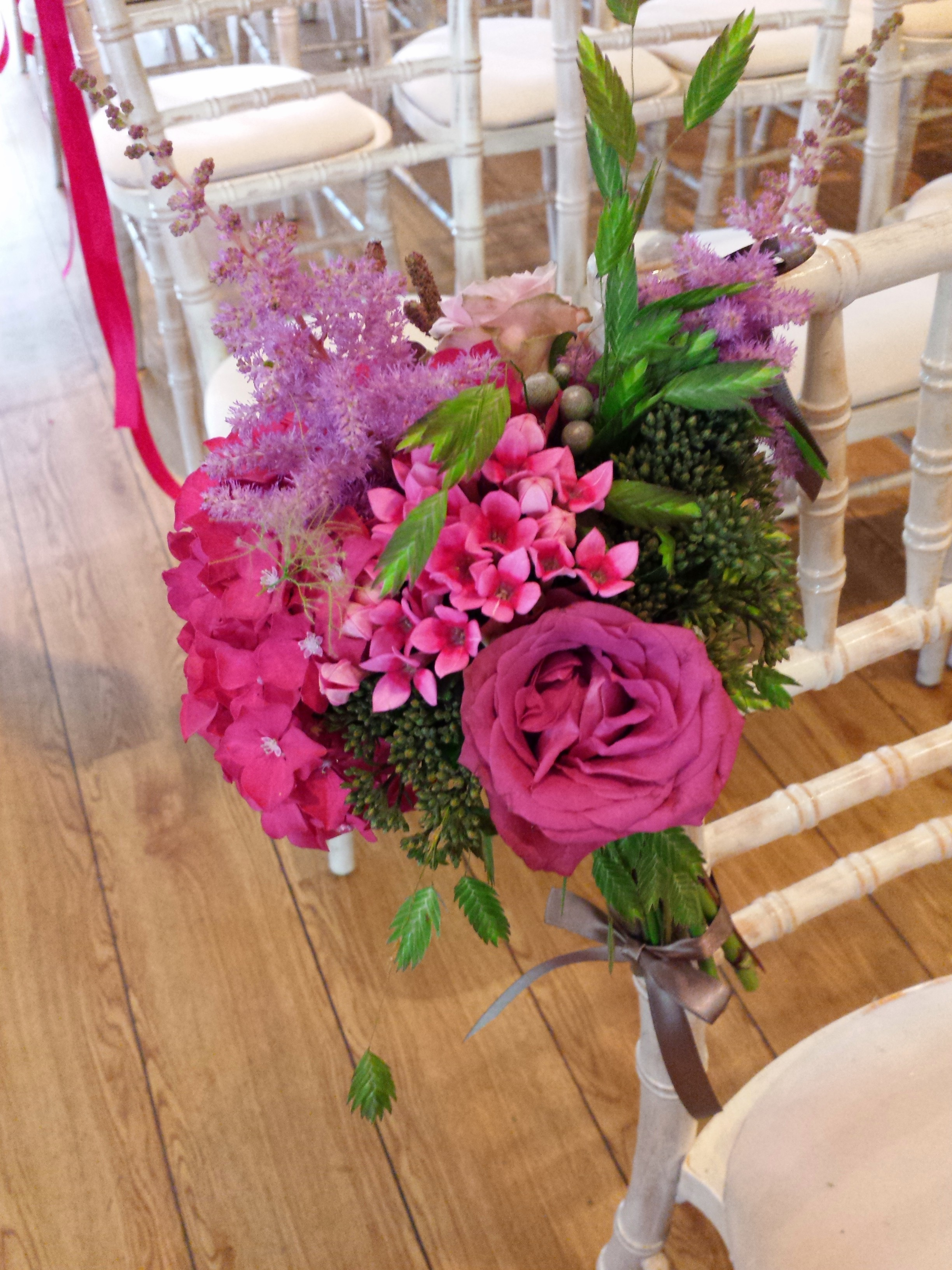 Raspberry Pink Wedding Flowers