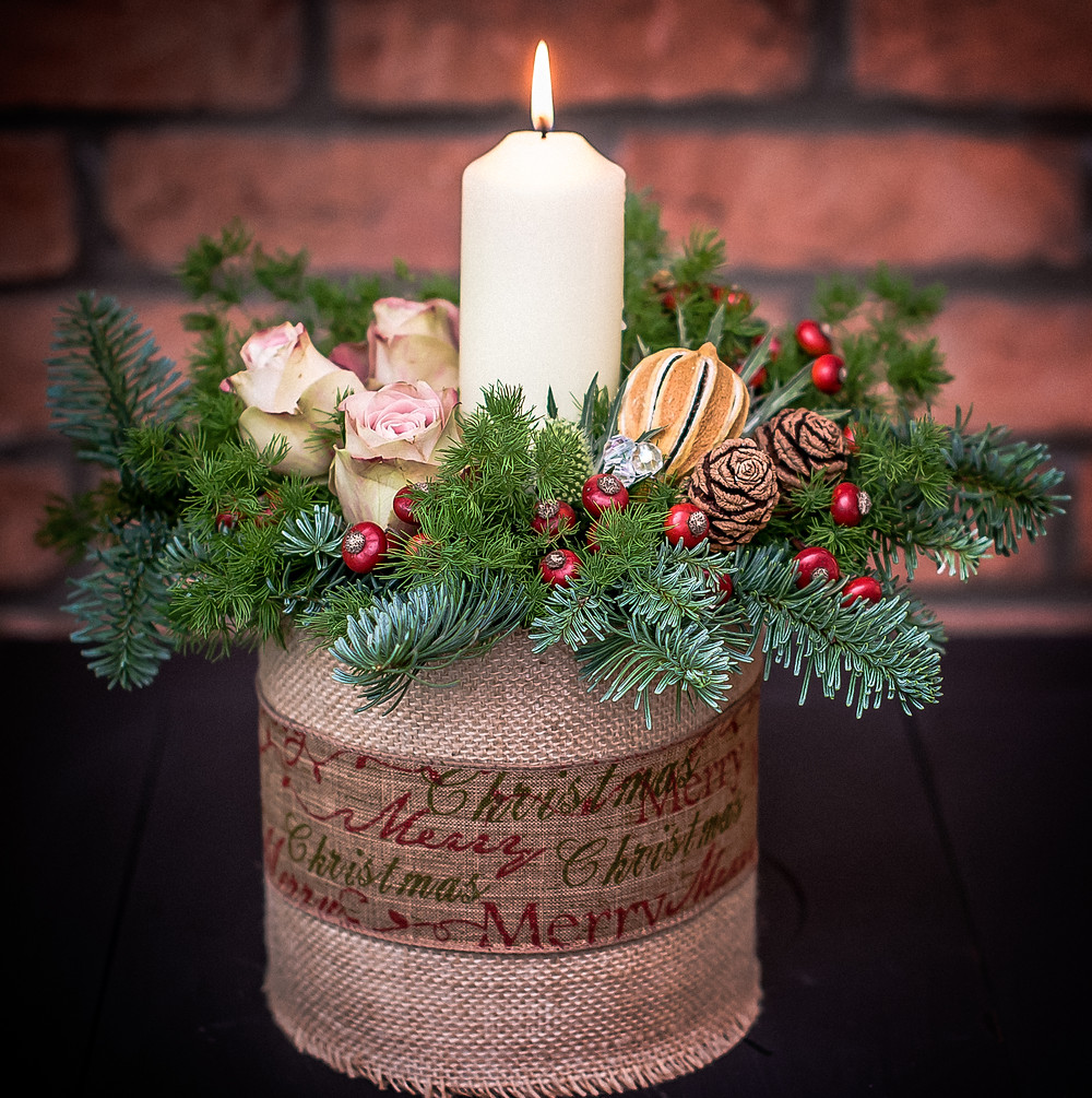 Christmas table centrepiece