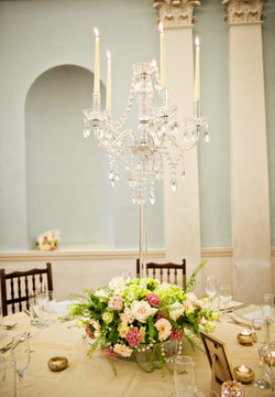 Hollywood Glamour Floral Chandelier