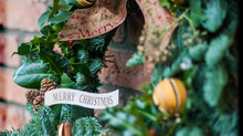 Christmas wreaths and gifts