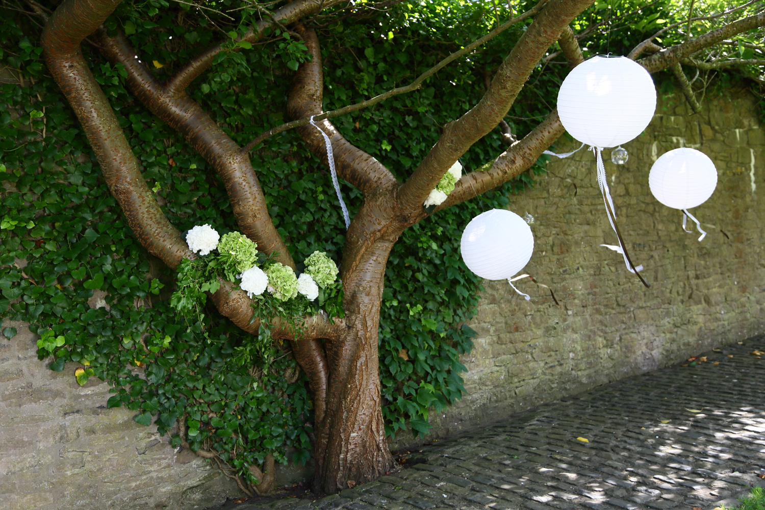 Styled wishing tree at Walton Castle