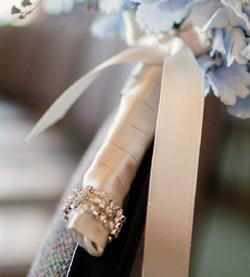 Satin ribbon & diamante detail