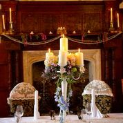Candelabra & styled chairs