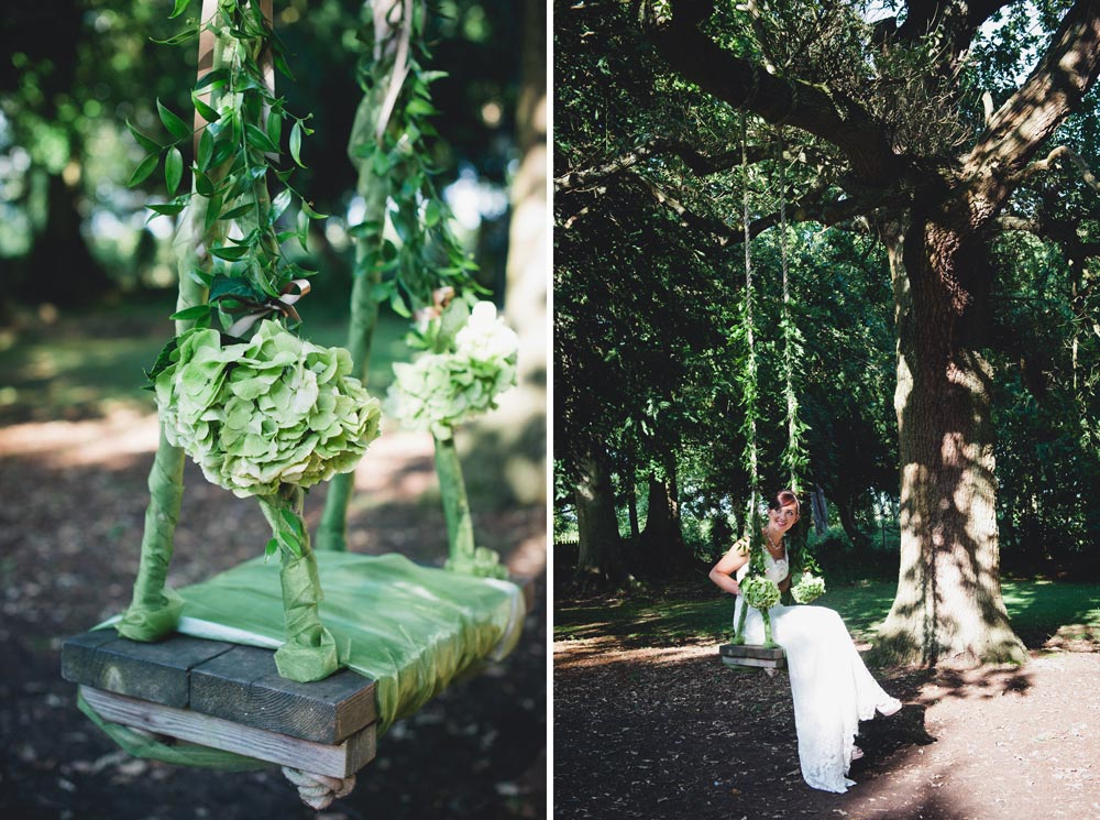 Dressed garden swing by Tin Can Floral