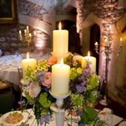 Floral adorned candelabra