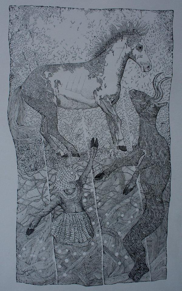 fragment de la creation du petit cheval