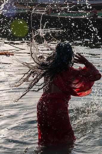 Indien Wasser Frau